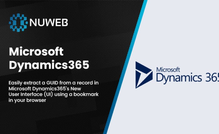 Easily extract a GUID from a record in Microsoft Dynamics365's New User Interface (UI) using a bookmark in your browser